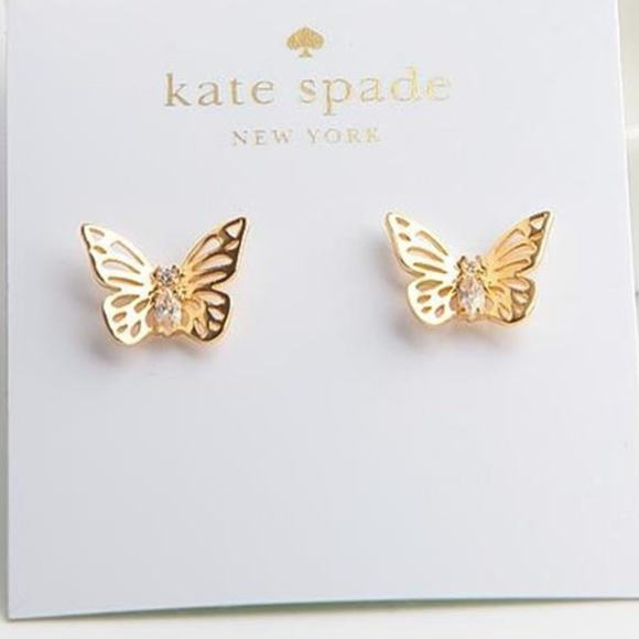 318f2daca kate spade Jewelry | Nwt Social Butterfly Earrings | Poshmark